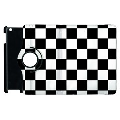 Grid Domino Bank And Black Apple Ipad 2 Flip 360 Case by Nexatart