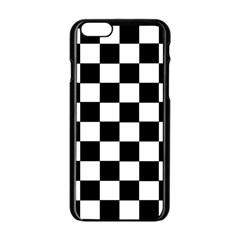 Grid Domino Bank And Black Apple Iphone 6/6s Black Enamel Case