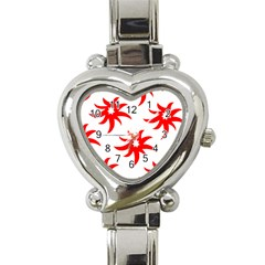 Star Figure Form Pattern Structure Heart Italian Charm Watch by Nexatart