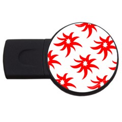 Star Figure Form Pattern Structure Usb Flash Drive Round (4 Gb)