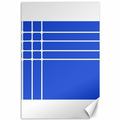 Stripes Pattern Template Texture Blue Canvas 24  X 36