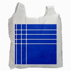 Stripes Pattern Template Texture Blue Recycle Bag (one Side) by Nexatart