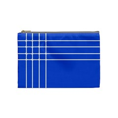 Stripes Pattern Template Texture Blue Cosmetic Bag (medium)  by Nexatart