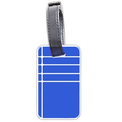 Stripes Pattern Template Texture Blue Luggage Tags (one Side)  by Nexatart