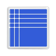 Stripes Pattern Template Texture Blue Memory Card Reader (square)
