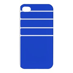 Stripes Pattern Template Texture Blue Apple Iphone 4/4s Hardshell Case by Nexatart