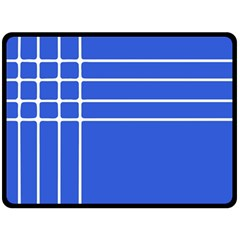 Stripes Pattern Template Texture Blue Double Sided Fleece Blanket (large)  by Nexatart