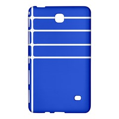 Stripes Pattern Template Texture Blue Samsung Galaxy Tab 4 (8 ) Hardshell Case  by Nexatart