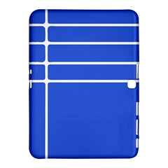 Stripes Pattern Template Texture Blue Samsung Galaxy Tab 4 (10 1 ) Hardshell Case