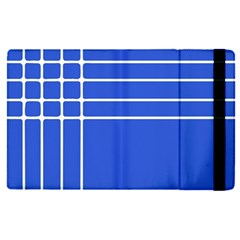 Stripes Pattern Template Texture Blue Apple Ipad Pro 9 7   Flip Case by Nexatart