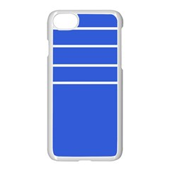 Stripes Pattern Template Texture Blue Apple Iphone 7 Seamless Case (white)