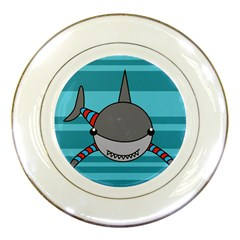 Shark Sea Fish Animal Ocean Porcelain Plates by Nexatart
