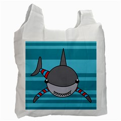 Shark Sea Fish Animal Ocean Recycle Bag (one Side) by Nexatart