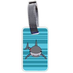 Shark Sea Fish Animal Ocean Luggage Tags (two Sides)