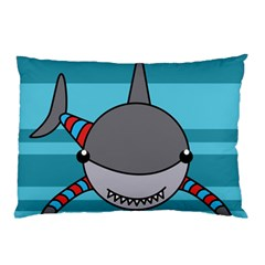 Shark Sea Fish Animal Ocean Pillow Case (two Sides)