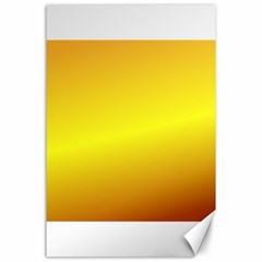Gradient Orange Heat Canvas 24  X 36  by Nexatart