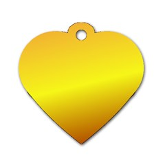 Gradient Orange Heat Dog Tag Heart (two Sides)
