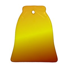 Gradient Orange Heat Bell Ornament (two Sides)