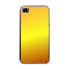 Gradient Orange Heat Apple Iphone 4 Case (clear)
