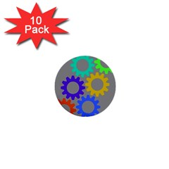 Gear Transmission Options Settings 1  Mini Buttons (10 Pack)
