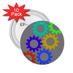 Gear Transmission Options Settings 2 25  Buttons (10 Pack)