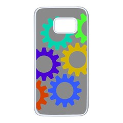 Gear Transmission Options Settings Samsung Galaxy S7 White Seamless Case