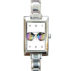 Sunglasses Shades Eyewear Rectangle Italian Charm Watch