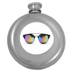 Sunglasses Shades Eyewear Round Hip Flask (5 Oz) by Nexatart