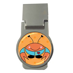 Crab Sea Ocean Animal Design Money Clips (round)  by Nexatart