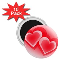 Heart Love Romantic Art Abstract 1 75  Magnets (10 Pack)