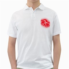 Heart Love Romantic Art Abstract Golf Shirts