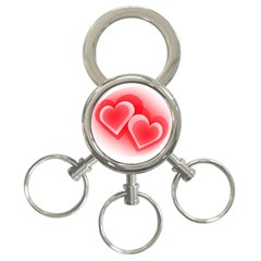 Heart Love Romantic Art Abstract 3 Ring Key Chains