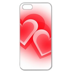 Heart Love Romantic Art Abstract Apple Seamless Iphone 5 Case (clear)