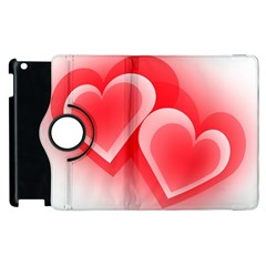 Heart Love Romantic Art Abstract Apple Ipad 2 Flip 360 Case by Nexatart