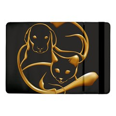 Gold Dog Cat Animal Jewel Dor¨| Samsung Galaxy Tab Pro 10 1  Flip Case by Nexatart