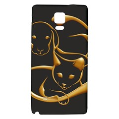 Gold Dog Cat Animal Jewel Dor¨| Galaxy Note 4 Back Case by Nexatart