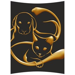 Gold Dog Cat Animal Jewel Dor¨| Back Support Cushion by Nexatart