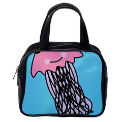 Jellyfish Cute Illustration Cartoon Classic Handbags (one Side) by Nexatart