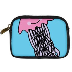 Jellyfish Cute Illustration Cartoon Digital Camera Cases by Nexatart