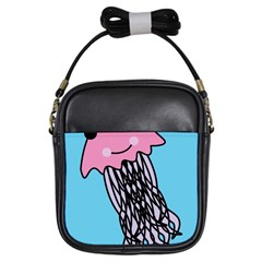 Jellyfish Cute Illustration Cartoon Girls Sling Bags