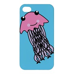 Jellyfish Cute Illustration Cartoon Apple Iphone 4/4s Premium Hardshell Case