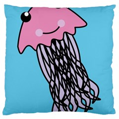 Jellyfish Cute Illustration Cartoon Standard Flano Cushion Case (one Side) by Nexatart