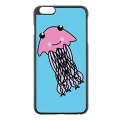 Jellyfish Cute Illustration Cartoon Apple Iphone 6 Plus/6s Plus Black Enamel Case