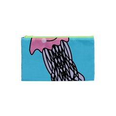 Jellyfish Cute Illustration Cartoon Cosmetic Bag (xs) by Nexatart