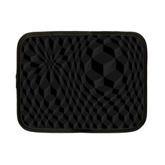 Pattern Dark Black Texture Background Netbook Case (small)  by Nexatart
