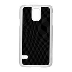 Pattern Dark Black Texture Background Samsung Galaxy S5 Case (white)
