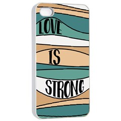 Love Sign Romantic Abstract Apple Iphone 4/4s Seamless Case (white)