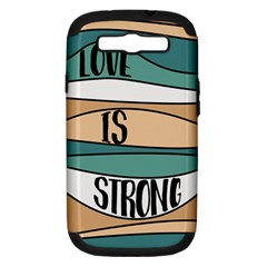 Love Sign Romantic Abstract Samsung Galaxy S Iii Hardshell Case (pc+silicone)