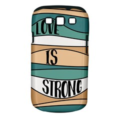 Love Sign Romantic Abstract Samsung Galaxy S Iii Classic Hardshell Case (pc+silicone) by Nexatart
