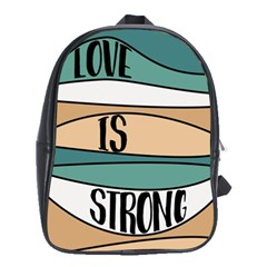 Love Sign Romantic Abstract School Bag (xl)